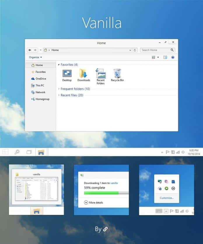 Best Themes For Windows 10 and Skins  - Vanilla - (Free) Windows 10 Themes and Skins