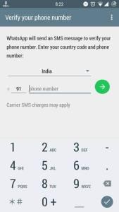 Verify your mobile number via OTP