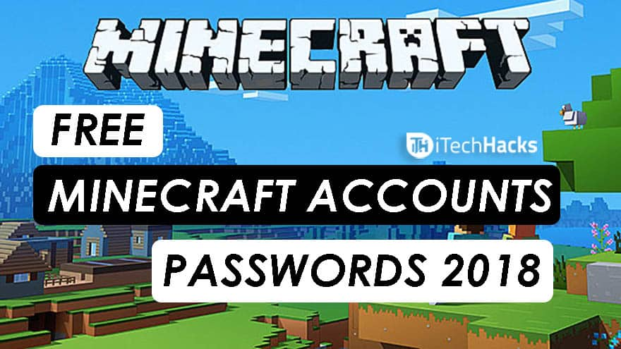 Minecraft account free giveaways