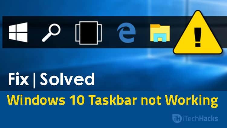 windows 10 taskbar fix it