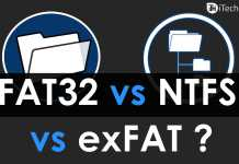 Difference Between FAT32 vs NTFS vs exFAT File Systems?