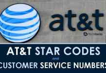 AT&T Star Codes and Customer Service Phone Number