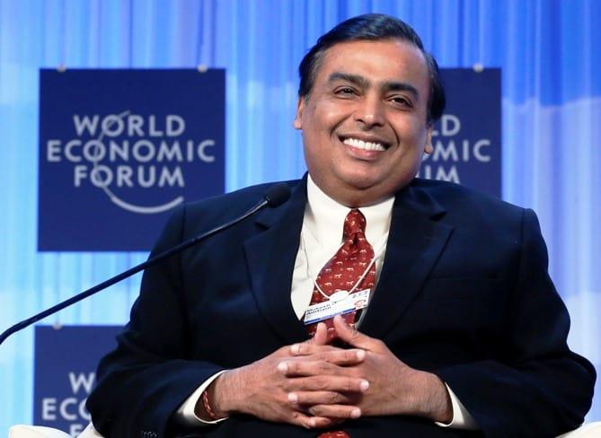 World's 10th Richest Person Mukesh Ambani with net worth of $54 billion