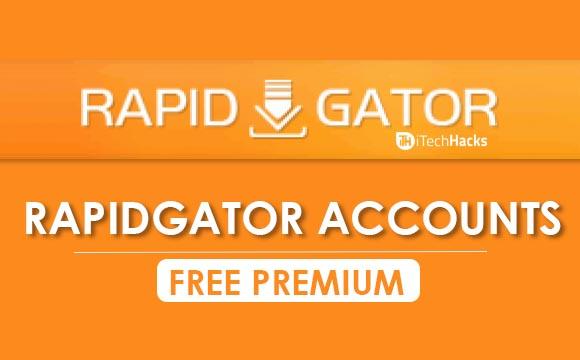 Free Premium Rapidgator Accounts & Passwords 2019 - Working