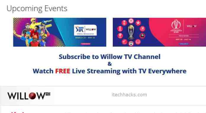 Willow Hd Tv Live Cricket World Cup Streaming Free June 2019