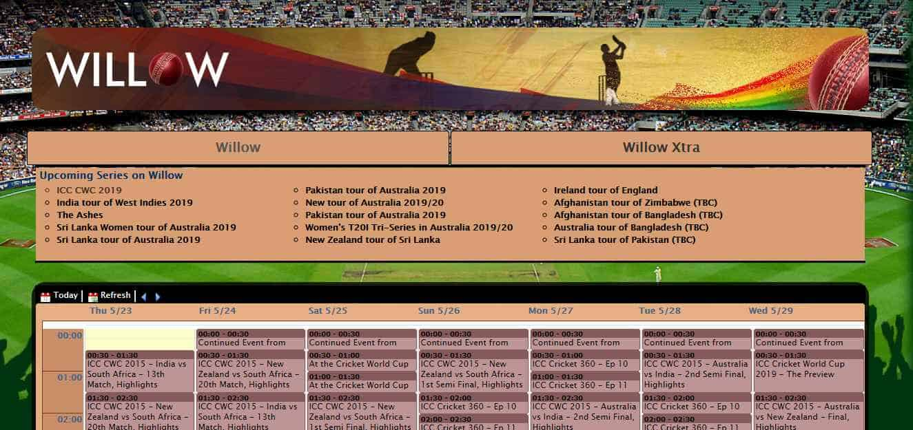 Itech Hacks Willow Hd Tv Live Cricket World Cup Streaming