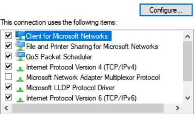 Disable 'IPv6' Connection.