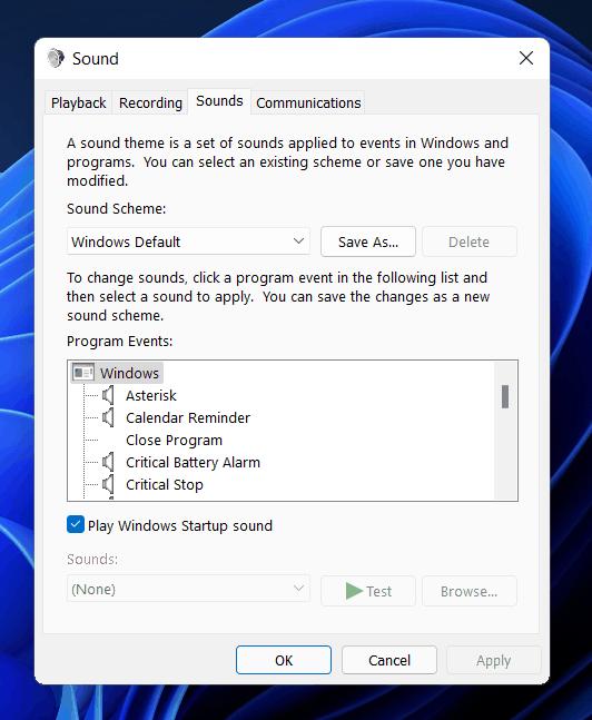 كيفية تمكين أو تعطيل صوت بدء التشغيل على نظام التشغيل Windows 11؟