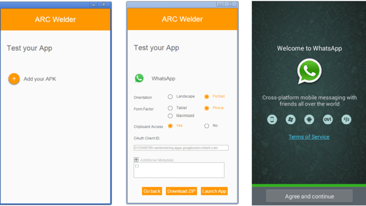 Run Android Apps in Chrome browser using ARC Welder -