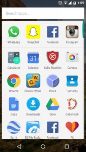 Main-application-screen to change app permissions using Android Marshmallow