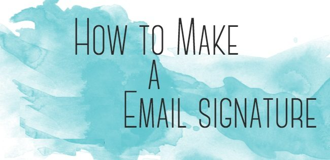 how to write a great email signature