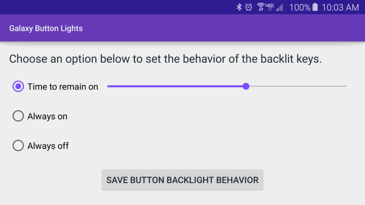 turn off Capacitive buttons light on S6