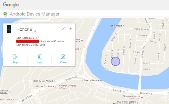 Lost your Phone? See the guide below on how to erase, ring or locate lost Honor 8 remotely.