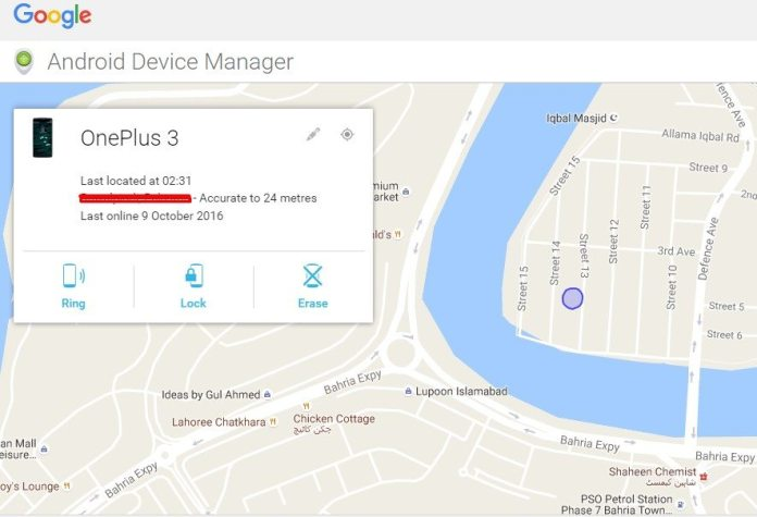 Locate Lost OnePlus 3