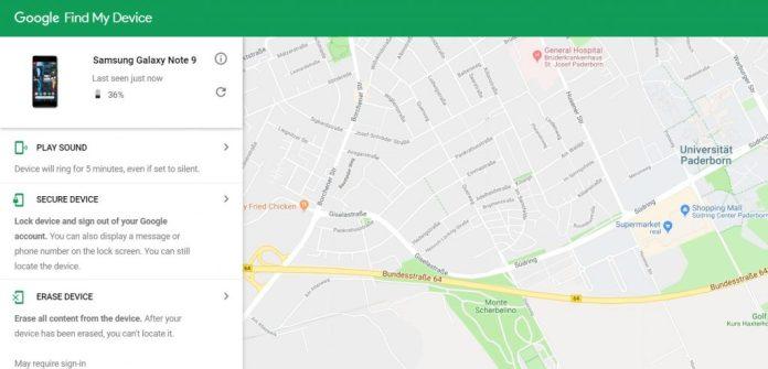 Track Find Locate Note 9