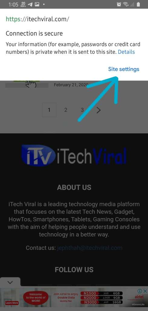 Clear Chrome Cache Android