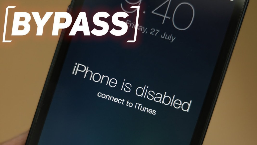 Unlock Disabled iPhone 6/7