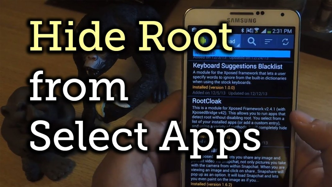 hide root status android app