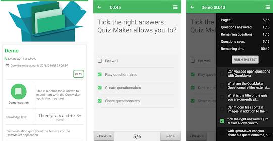 Quiz maker apps