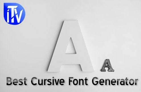 Cursive-Font-Generator