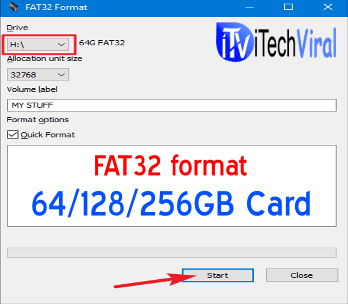 fat32 formatter for Windows 10