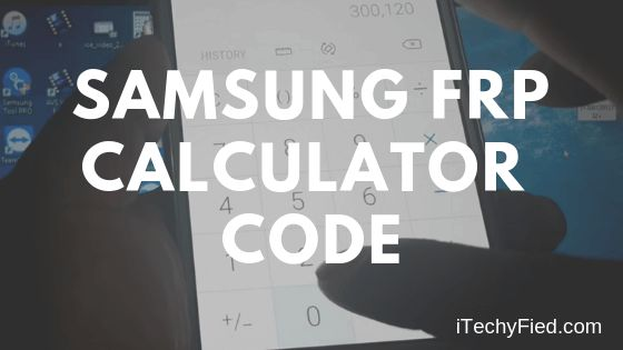 samsung frp calculator code
