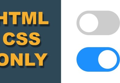 How to Create Toggle Switch by using HTML and CSS