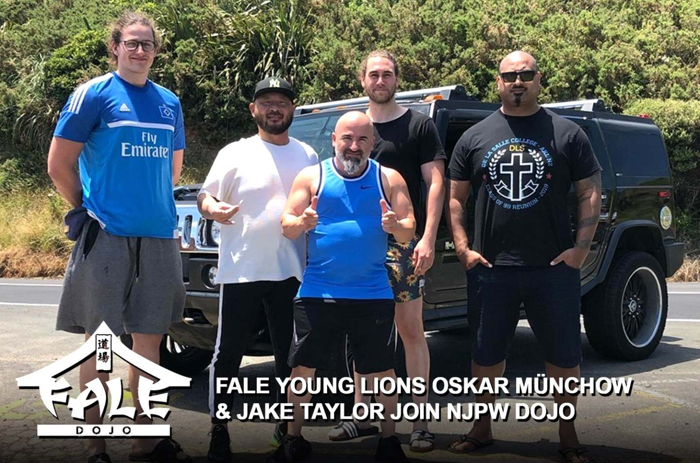 Fale Dojo Young Lions Oskar Münchow and Jake Taylor join NJPW Dojo