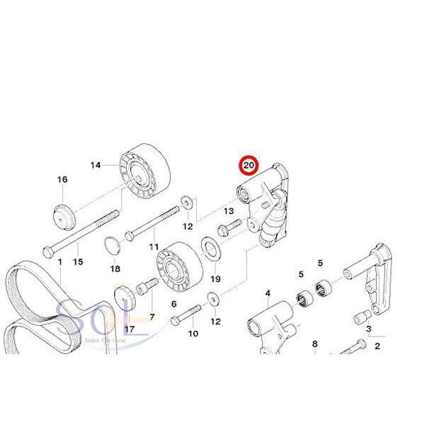 BMW E36 E46 E34 E39 ベルトテンショナー 油圧式変換キット 320i 323i 325i 328i