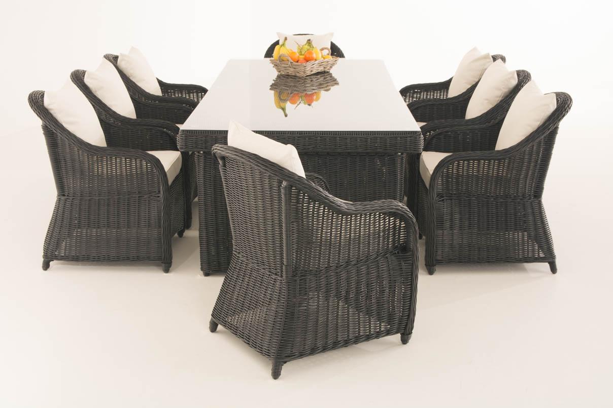 Sitzgruppe CANDELA XL schwarz Gartengarnitur Polyrattan Gartenmbel Farbwahl NEU  eBay