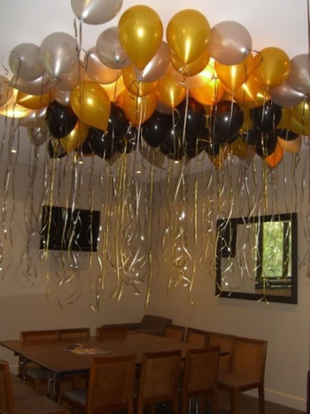 12 Pcs  12 Metallic Gold Birthday Wedding Party Decor Latex Balloons Ceremony Table Top