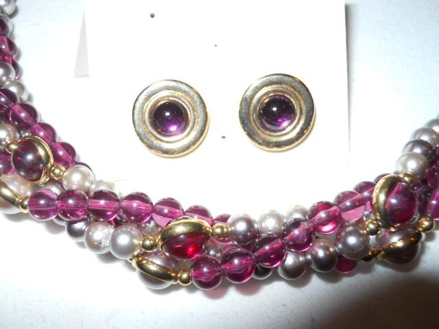 Vintage Avon necklace & earring set on Tradesy