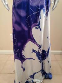 Cachet Purple Long Formal Gown Floral Sequin Prom ...