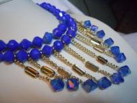 Cobalt Blue Vintage Necklace & Earrings Set