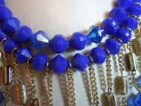 Cobalt Blue Vintage Necklace & Earrings Set - Tradesy