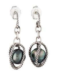 David Yurman Black Pearl Earring