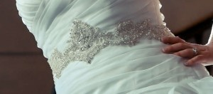 David's Bridal Ball Gown With Embellished Waist And