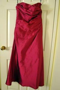 Jim Hjelm Occasions Raspberry Silk Taffeta 5030 Formal