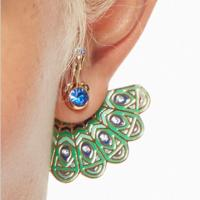 Kate Spade Green Peacock Earrings