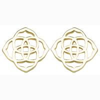 Kendra Scott Gold Dira Logo Stud Earrings - Tradesy