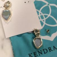 Kendra Scott Slate Earrings Danielle Silver Statement ...