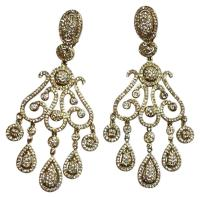 Neiman Marcus Gold Chandlier Earrings - Tradesy