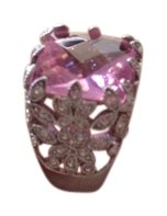 Large Pink Crystal Cocktail Ring 82% Off #14825290 - Jewelry