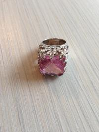 Pink Large Crystal Cocktail Ring from Victoria Klein on ...