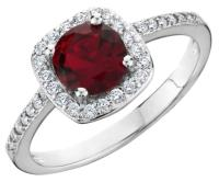 White Gold/ Garnet ** ** 18k Ring