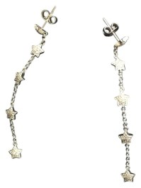 Ross-Simons White Gold 14k and Small Diamonds Earrings ...