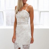White Above Knee Cocktail Dress Size 0 (XS) - Tradesy