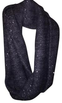 Gray with Sparkle Infinity Wool Scarf on Tradesy