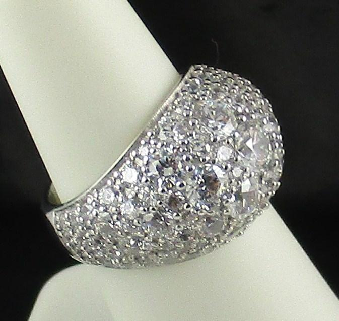 Jean Dousset Clear 4.61ct Absolute Pave' Dome Band