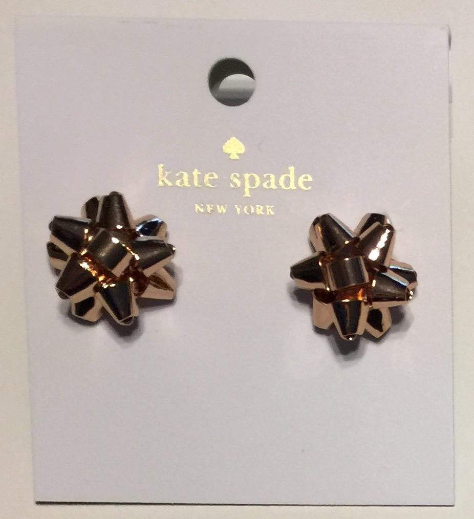 Kate Spade Bow Earrings Rose Gold